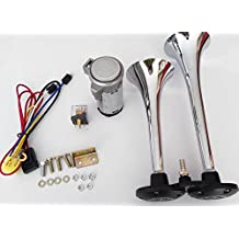 zantec Horn Super Laut Dual Trompete Auto Kompressor Air Horn Kit f/ür Motorrad Boot LKW Zug 178db 12/V//24/V