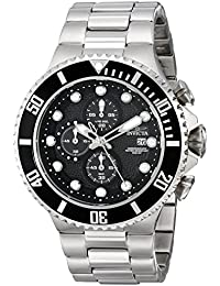 invicta watches shop amazon uk invicta men s pro diver steel bracelet case quartz black dial watch 18906