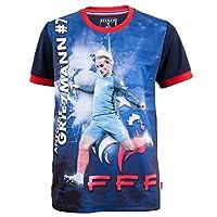 Collection officielle Equipe de France de Football. Maillot FFF, Antoine GRIEZMANN. Taille enfant garçon. Matière polyester. Produit officiel, sous licence officielle, marque protégée.