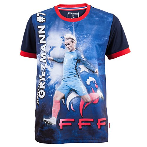 Equipe de FRANCE de football Maillot FFF - Antoine Griezmann - Collection Officielle Taille Enfant 10 Ans