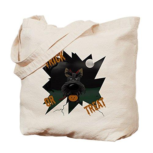 CafePress Scottie Devil Halloween Tragetasche, canvas, khaki, S (Geburtstag Halloween-die Ist S Devil)