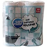 #6: Care Mate Toilet Tissue Roll - 200 Pulls x 4 Rolls (2 Ply), 800 Pieces Pack