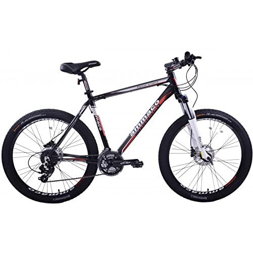 "51n3m4 BGgL. SS500  - AMMACO ALPINE EXPERT 24 SPEED MENS ALLOY MOUNTAIN BIKE WITH HYDRAULIC DISC BRAKES 26"" WHEEL 20"" BLACK"