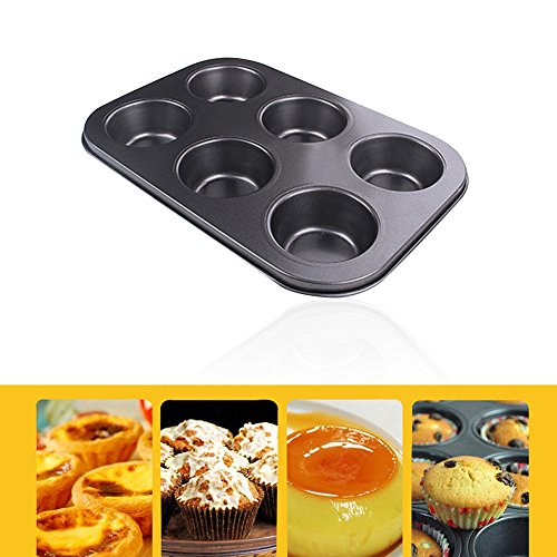 Kuchen Backform Cookies Tablett | 6 Löcher Antihaft Muffin Kuchen Backen Ofen Pfanne Cookie Tablett Cup Cake Maker (Halloween Cupcake Mini Rezepte Zu)