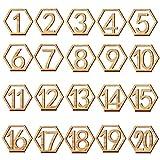 HAVIL Tischnummern 1-40 Hochzeit Holz Schreibtisch Nummer Karten Base Party Doppelseitige Design Tischhalter