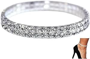 NewChiChi 2 PZ Brillante Brillante Diamante Cavigliera Elastico Bling Brillante gioielli piede Braccialetto Bridal gioielli Estate vestito Cavigliera