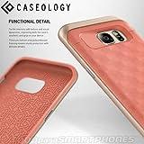 Coque Galaxy S7 Edge, Caseology [Série Parallax] Ultra Mince motif Géométrique Protection à double couche [Rose - Pink] Housse Etui Coque pour Samsung Galaxy S7 Edge (2016)