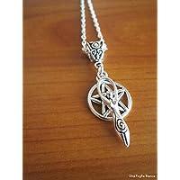 Celtic Mother Goddess pentacle pendant pagan handmade