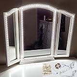 Led Eitelkeits Licht Streifen, Budalga Frisierkommode Kosmetikspiegel Licht 13ft Dimmbar Spiegelstreifen Beleuchtung Make-up Licht Spiegellampe Schminklicht Lampe Weiß(Spiegel Nicht Inbegriffen)