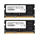 Samsung 3rd 8 GB (2 x 4 GB) Kit DDR3 1066 MHz (PC3 8500) So DIMM Memoria...