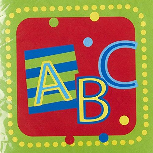 1. Schultag - Dekoset Einschulung - Servietten, Luftballons & Konfetti ABC - 3