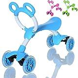 LCP Kids SLIDER Kinder Laufrad als Lern Fahrzeug auf 4 Rädern ab 1 Jahr, Farbe: blau
