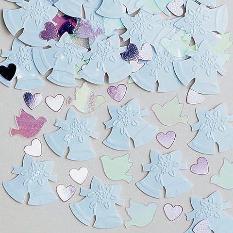 Confetti: Bells of Joy White and Iridescent