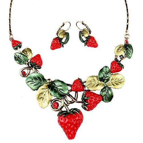 MS übertrieben süß dekorative Halskette Ohrring zweiteilige , exquisite spot