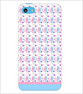 PrintDhaba Love Couple Pattern D-1597 Back Case Cover for APPLE IPHONE 5C (Multi-Coloured)