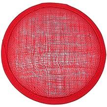 Fascinator Sombrero Redondo De Base De Sombreros Rojos