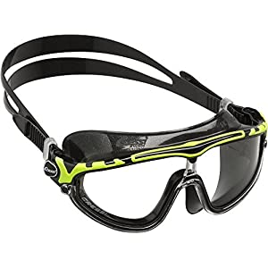 Cressi Skylight 180 Degrees View Anti Fog Premium Swim Goggles - Black/Lime - Clear Lens