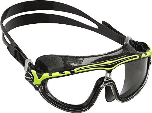 Cressi skylight premium occhialini per nuoto, piscina, triathlon e sport acquatici, unisex – adulto, nero/nero lime