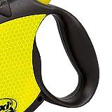 flexi Roll-Leine Neon Reflect S Seil 5 m Neon/schwarz für Hunde bis max. 12 kg - 2