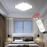 Hengda 36W LED Deckenlampe Badleuchte Dimmbar Fernbedienung 240-3240LM Modern Deckenleuchte 230v