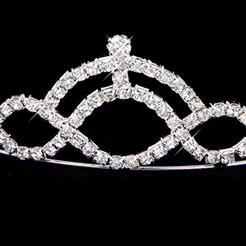 Novia Tiara Diadema Corona Cristal Rhinestone Plata Encantador Boda Fiesta