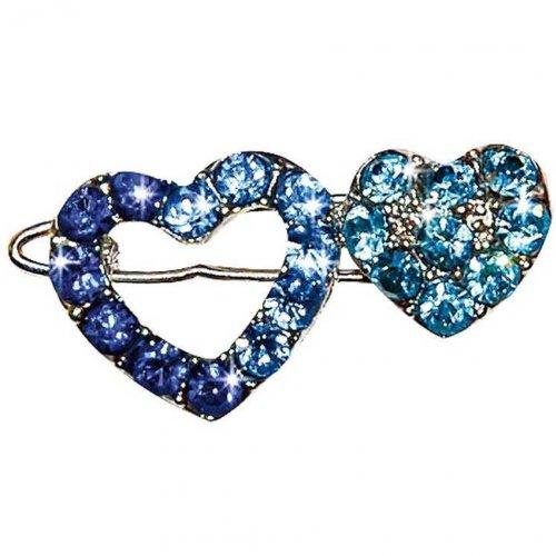 Artikelbild: Haarspange Strassherz blau 2,6cm von Vivog