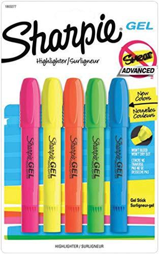 Sharpie Accent Gel-Textmarker 5-Count verschiedene Farben