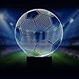 Night Lights for Children, 3D Illusion Night Lamps, Kids Room Decor, 7 Colors Changing Table Desk Lighting Bedroom Home Decorations, Perfect Gifts for Boys, Girls, Teens, Football Soccer Sports Fan