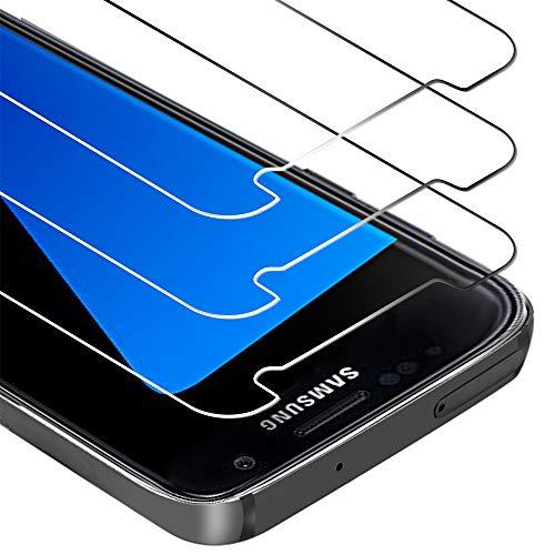 Zloer [3 Pièces] Verre Trempé Samsung Galaxy S7 Film Protection écran [9H Dureté][sans Bulles, Facile à Installer] pour Protection écran Samsung Galaxy S7 [Garantie de Remplacement à Durée de Vie]