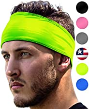 Sports Headbands: UNISEX Design With Inner Grip Strip to Keep Headband Securely in Place | Fits ALL HEAD SIZES