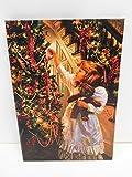 Ziegler Weihnachtsbild LED beleuchtet Leinwand Weihnachtsmädchen 40 x 28 cm 5001560 F29