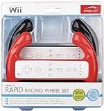 Speedlink Rapid Lenkrad Set für Nintendo Wiimote (zwei RacingWheel Aufsätze) schwarz und rot