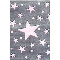 Tappeto per bambini Happy Rugs STELLA grigio rosa 120x180cm