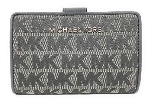 Michael Kors Jet Set Travel Bifold Zip Coin Monogram Wallet -