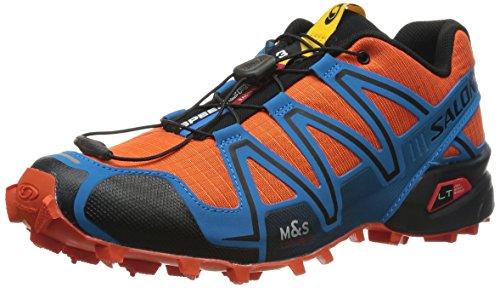 Salomon Speedcross 3, Scarpe sportive, Uomo, Multicolore (George Orange-X/BL/BK), 44