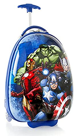 Marvel Avengers Exclusive Designed Multicolored Boy's Carry-On Rolling Luggage 18 Inch