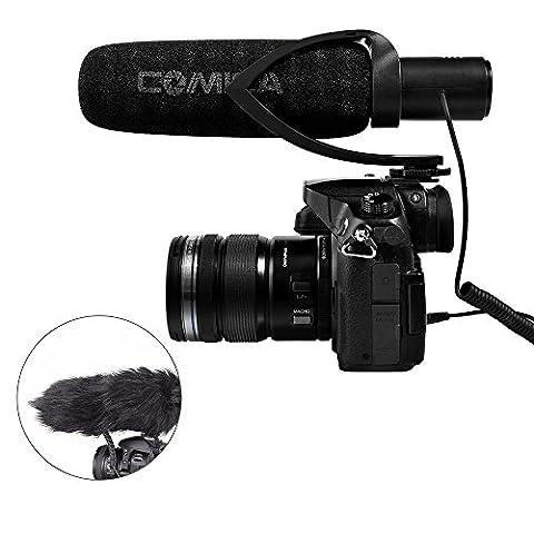 COMICA CVM-V30 Nierencharakteristik Directional Kondensator Schrotflinte Video Mikrofon Interview Youtube Mic mit 3,5 mm Audio Eingang Low-Cut Filter 10dB Einstellbare Empfindlichkeit für Kamera Canon 5DⅢ 70D Sony A7RⅡ A7SⅡ Panasonic GH4 GH5 Nikon DSLR
