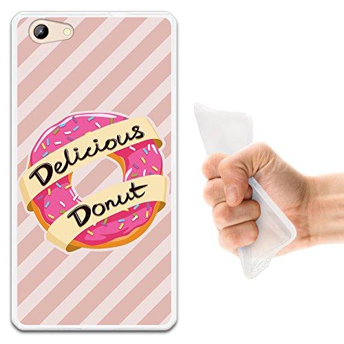 WoowCase Doogee Y300 Hülle, Handyhülle Silikon für [ Doogee Y300 ] Leckeres Krapfen Essen Handytasche Handy Cover Case Schutzhülle Flexible TPU - Transparent