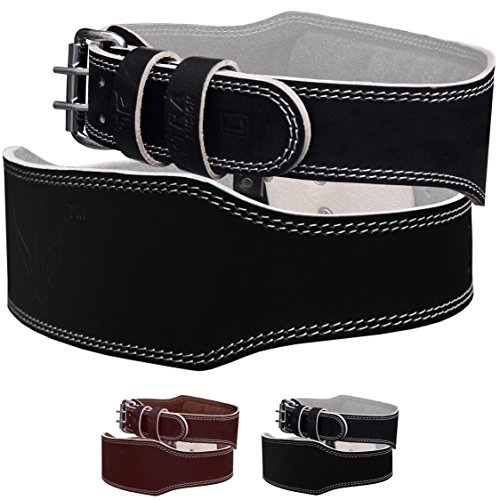 Mytra Fusion 4 inch Leather Power lifting and Weight Lifting Belt - Fusion Bodybuilding