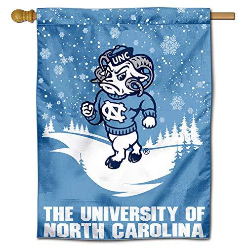 UNC Tar Heels Winter Schneeflocke doppelseitig House Flagge