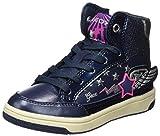 Geox Mädchen JR Creamy A Hohe Sneaker, Blau (Navy/Fuchsia), 31 EU