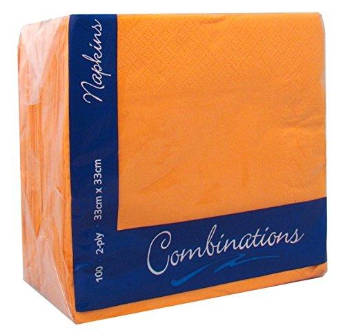 Preisvergleich Produktbild 100 Orange Servietten 33 cm zweilagig