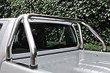 Edelstahl Überrollbügel 63,5mm für Pickup's - universell passend - verstellbar passend für Ladeflächenbreite von 1500-1680 mm!
