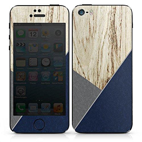 Apple iPhone SE Case Skin Sticker aus Vinyl-Folie Aufkleber Holz Modern Trend DesignSkins® glänzend