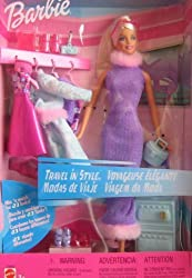 Mattel Barbie Travel In Style - Mix N Match For 23 Looks! Doll Set (2001)
