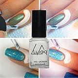 Lulaa 6 ml Liquid Tape Latex Peel Off Base Coat Nail Art Palisade for Women (White)