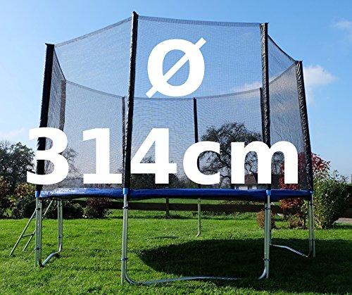 Outdoor Gartentrampolin Trampolin XL - 314cm komplett inkl. Sicherheitsnetz und Leiter TÜV geprüft von AS-S