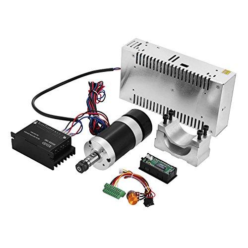 BanabaB CNC Milling Spindle Kit CNC Frässpindel Kit 400W Brushless DC Frässpindel Motor + 480W Schaltnetzteil + Geschwindigkeit Peak Power Supply