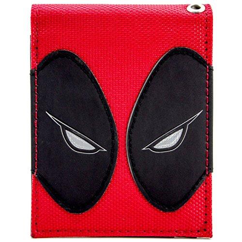 Marvel Deadpool Augen texturiert Rot Portemonnaie (Kostüm Ryan)