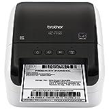 Brother QL-1100 Thermodirekt-Etikettendrucker mit 1 Rolle DK11247 mit 41 Klebeetiketten und 1 Rolle DK22205 Endlosband